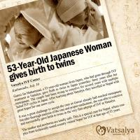53-Year-Old Japanese Woman gives birth to twins